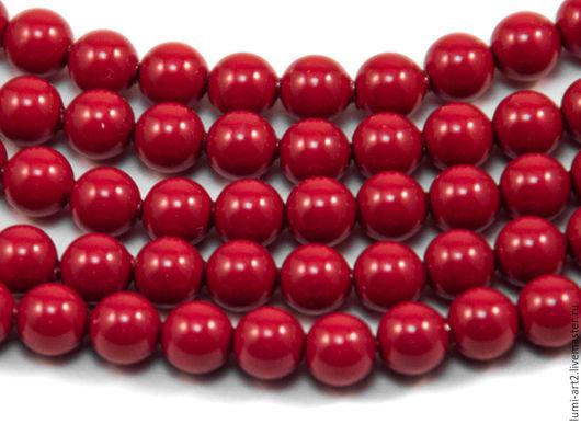 Для украшений ручной работы. Ярмарка Мастеров - ручная работа. Купить 4мм Red Coral Жемчуг Сваровски 718 Swarovski Perl 30 шт. Handmade.