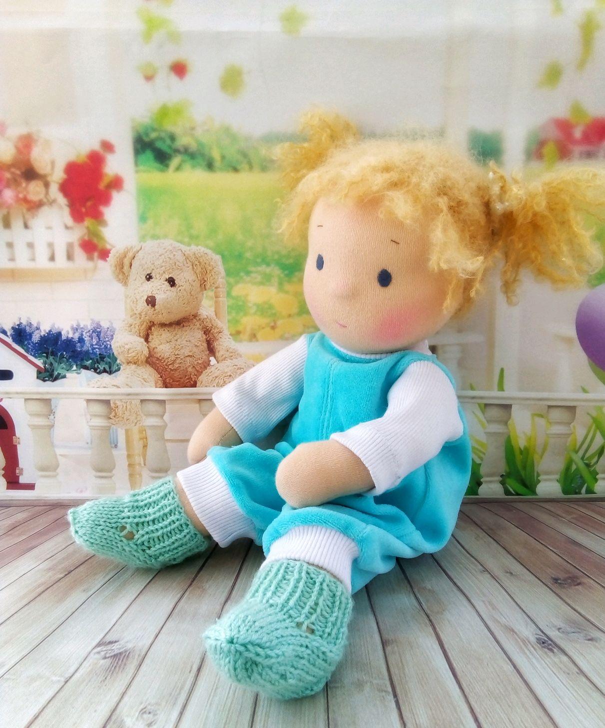 Кукла - малышка в вальдорфском стиле, Вальдорфские куклы и звери, Сызрань,  Фото №1
