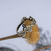 Украшения handmade. Livemaster - original item Golden ring-twig