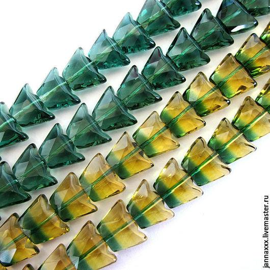 Для украшений ручной работы. Ярмарка Мастеров - ручная работа. Купить Кварц ТРАПЕЦИЯ 8х11мм. Handmade. Зеленый, кварц