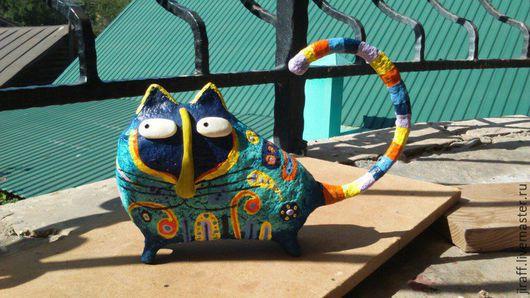 Статуэтки ручной работы. Ярмарка Мастеров - ручная работа. Купить Магический кот. Handmade. Комбинированный, синий цвет, магические предметы