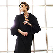 """Одежда ручной работы. Ярмарка Мастеров - ручная работа Пальто из кашемира """"Чёрный агат"""". Handmade."""