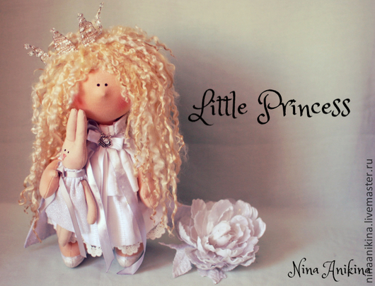 Коллекционные куклы ручной работы. Ярмарка Мастеров - ручная работа. Купить Интерьерная Кукла Little Princess. Handmade. Белый, трикотаж