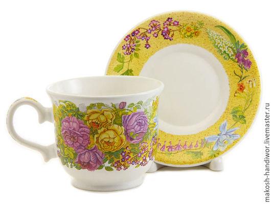 Сервизы, чайные пары ручной работы. Ярмарка Мастеров - ручная работа. Купить Чайная пара керамика. Handmade. Комбинированный
