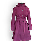 Одежда ручной работы. Ярмарка Мастеров - ручная работа Пальто зимнее драповое с капюшоном Алабама. Handmade.
