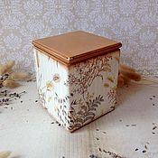 Для дома и интерьера ручной работы. Ярмарка Мастеров - ручная работа Осенние травы - короб для мелочей. Handmade.