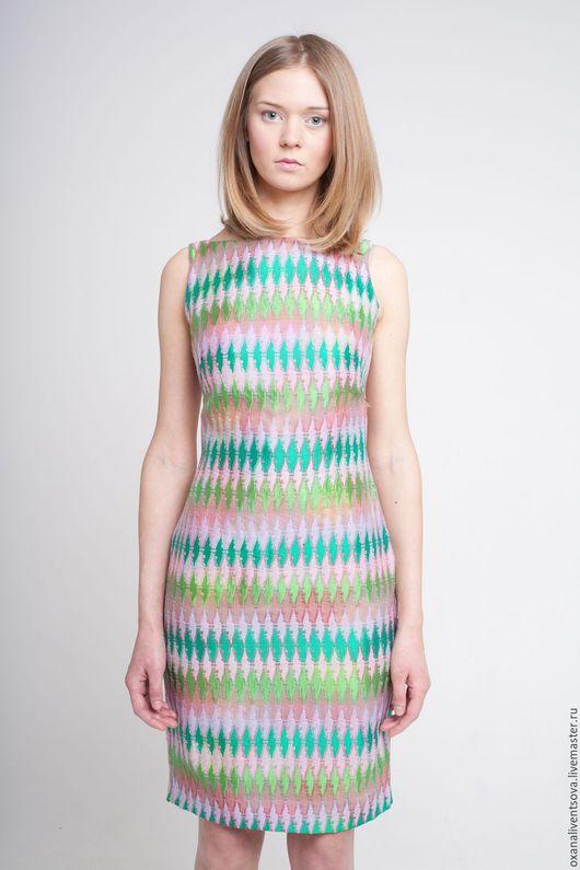 Платья ручной работы. Ярмарка Мастеров - ручная работа. Купить Платье-футляр с открытой спиной. Handmade. Ярко-зелёный