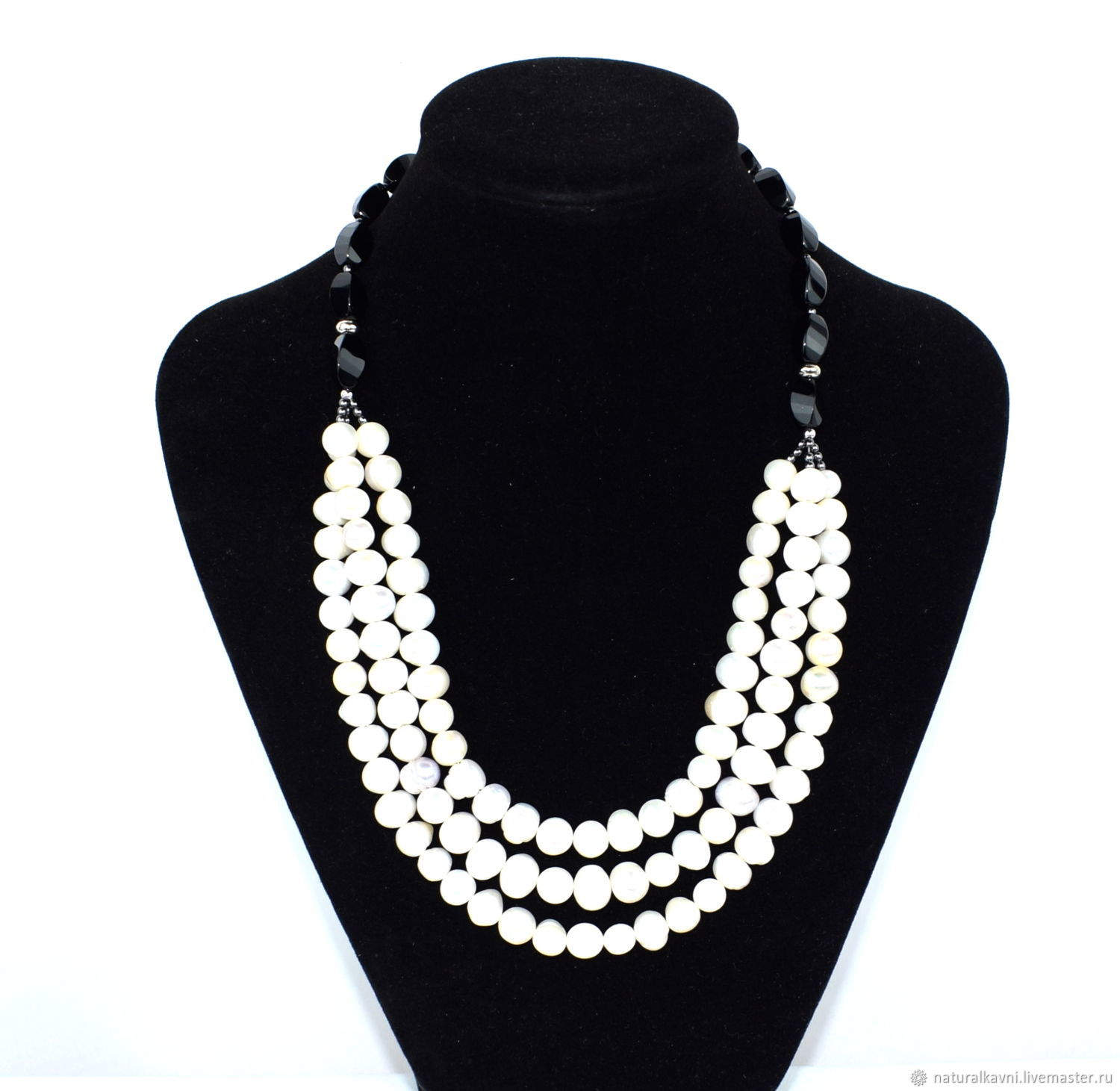 Necklace made of natural agate and pearls, Necklace, Moscow,  Фото №1