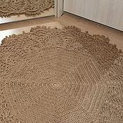 Для дома и интерьера handmade. Livemaster - original item Pad made of jute with lace trim. Handmade.