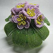 Цветы и флористика ручной работы. Ярмарка Мастеров - ручная работа фиалки из бисера. Handmade.