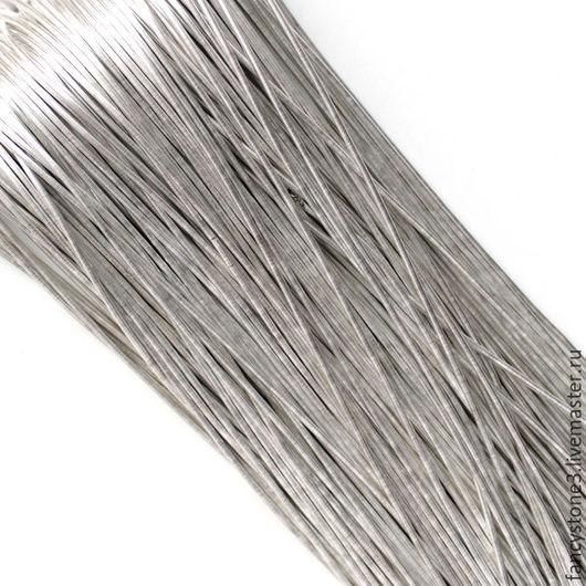 Для украшений ручной работы. Ярмарка Мастеров - ручная работа. Купить Канитель гладкая 1мм, цвет Серебро, Индия. Handmade.