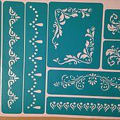 Материалы для творчества handmade. Livemaster - original item 4343 adhesive-based Stencil reusable. Handmade.