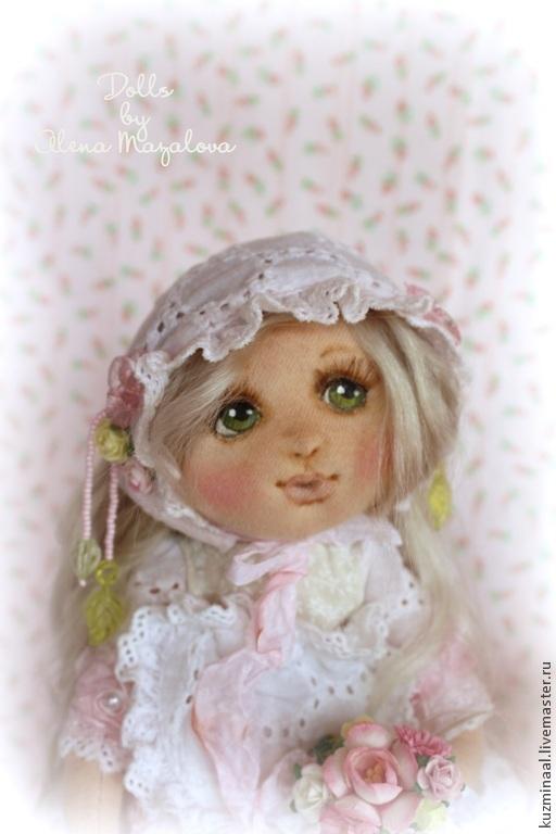 Коллекционные куклы ручной работы. Ярмарка Мастеров - ручная работа. Купить ЛЕЯ.... Коллекционная текстильная кукла. Handmade. Бледно-розовый