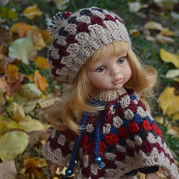 Dolls & toys. Livemaster - original item Poncho, sweater, shorts, beret, leg warmers for Paola Reina doll.. Handmade.
