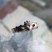 Украшения handmade. Livemaster - original item Silver Claddagh Heart ring. Handmade.