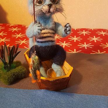 Куклы и игрушки ручной работы. Ярмарка Мастеров - ручная работа Кот- рыбак. Handmade.
