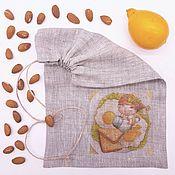 6-4 Глазунья 20х30см мешочки для подарков льняные, упаковка подарок