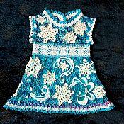 """Платья ручной работы. Ярмарка Мастеров - ручная работа Платье на девочку ,,Снежинка"""" крючком ,ирландское кружево. Handmade."""