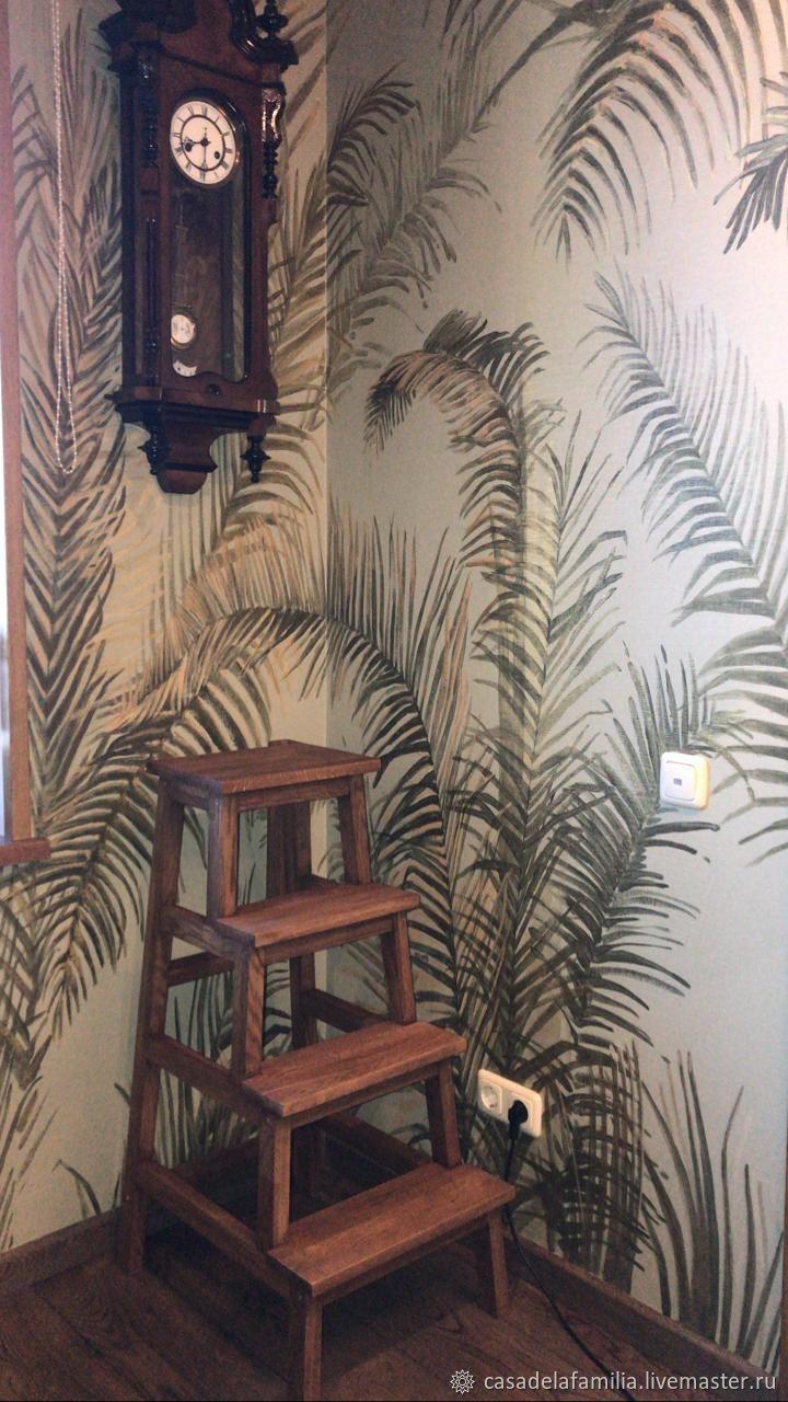Дубовая лестница-стремянка, Табуреты, Москва,  Фото №1