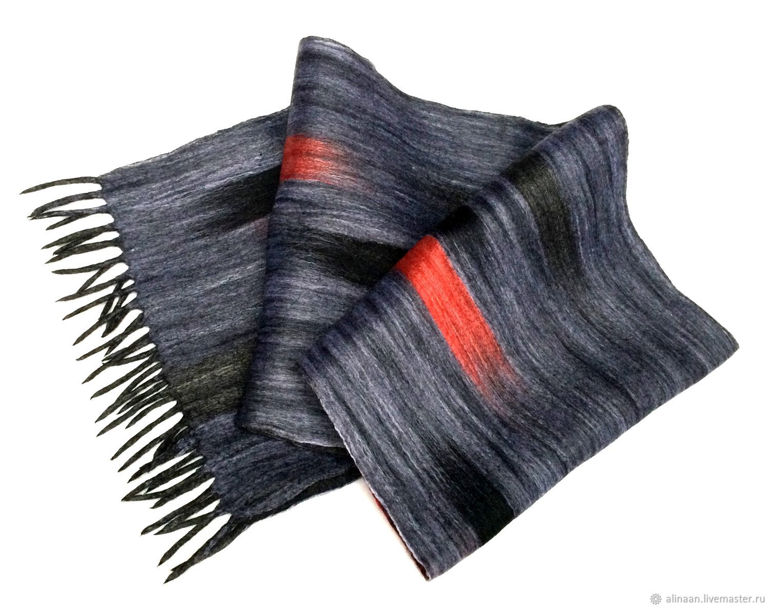 Men's felted scarf 'Rumba', Scarves, Moscow,  Фото №1