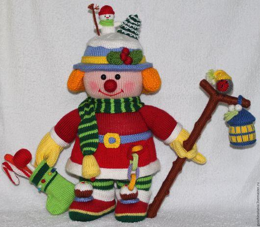 Человечки ручной работы. Ярмарка Мастеров - ручная работа. Купить Новогодний клоун. Handmade. Вязаная игрушка, интерьерная игрушка, акрил