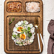 Посуда handmade. Livemaster - original item Oak serving board with three compartments. Handmade.