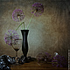 Фотокартины ручной работы. Ярмарка Мастеров - ручная работа. Купить Натюрморт Вечерний этюд. Handmade. Фиолетовый, черный, ваза, Рюмки