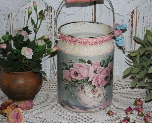 """Вазы ручной работы. Ярмарка Мастеров - ручная работа. Купить """"Букет роз"""" бидон-ваза. Handmade. Комбинированный, бидон-ваза"""