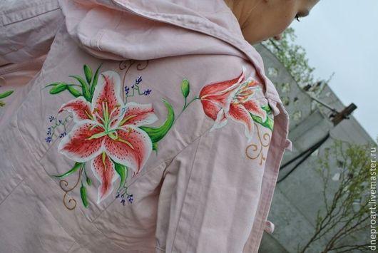 """Верхняя одежда ручной работы. Ярмарка Мастеров - ручная работа. Купить Плащ-пальто """"Лилии"""". Handmade. Розовый"""