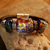 Украшения handmade. Livemaster - original item Bracelet style regalis on a leather cord. Handmade.