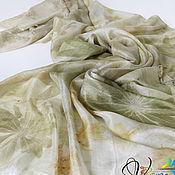 Аксессуары handmade. Livemaster - original item Stole silk large Harmony - ekoprint. Handmade.