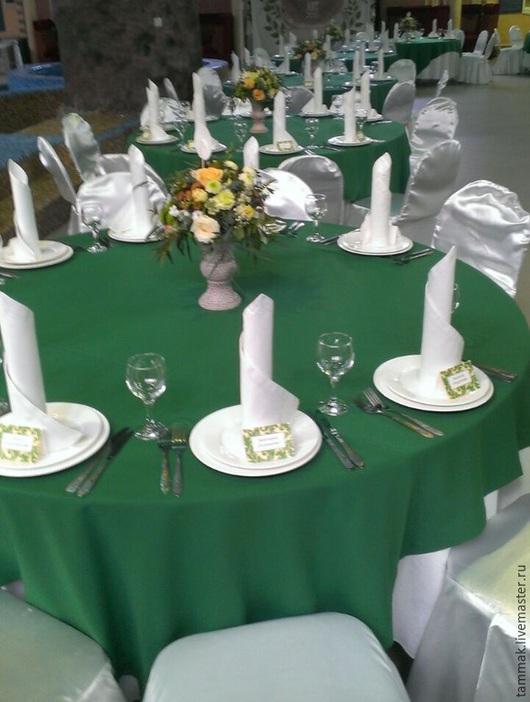 Свадебные аксессуары ручной работы. Ярмарка Мастеров - ручная работа. Купить Скатерть - наперон 2,20х2,20. Handmade. Зеленый