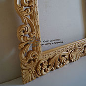 Для дома и интерьера handmade. Livemaster - original item Frame Baroque mirror carved. Handmade.