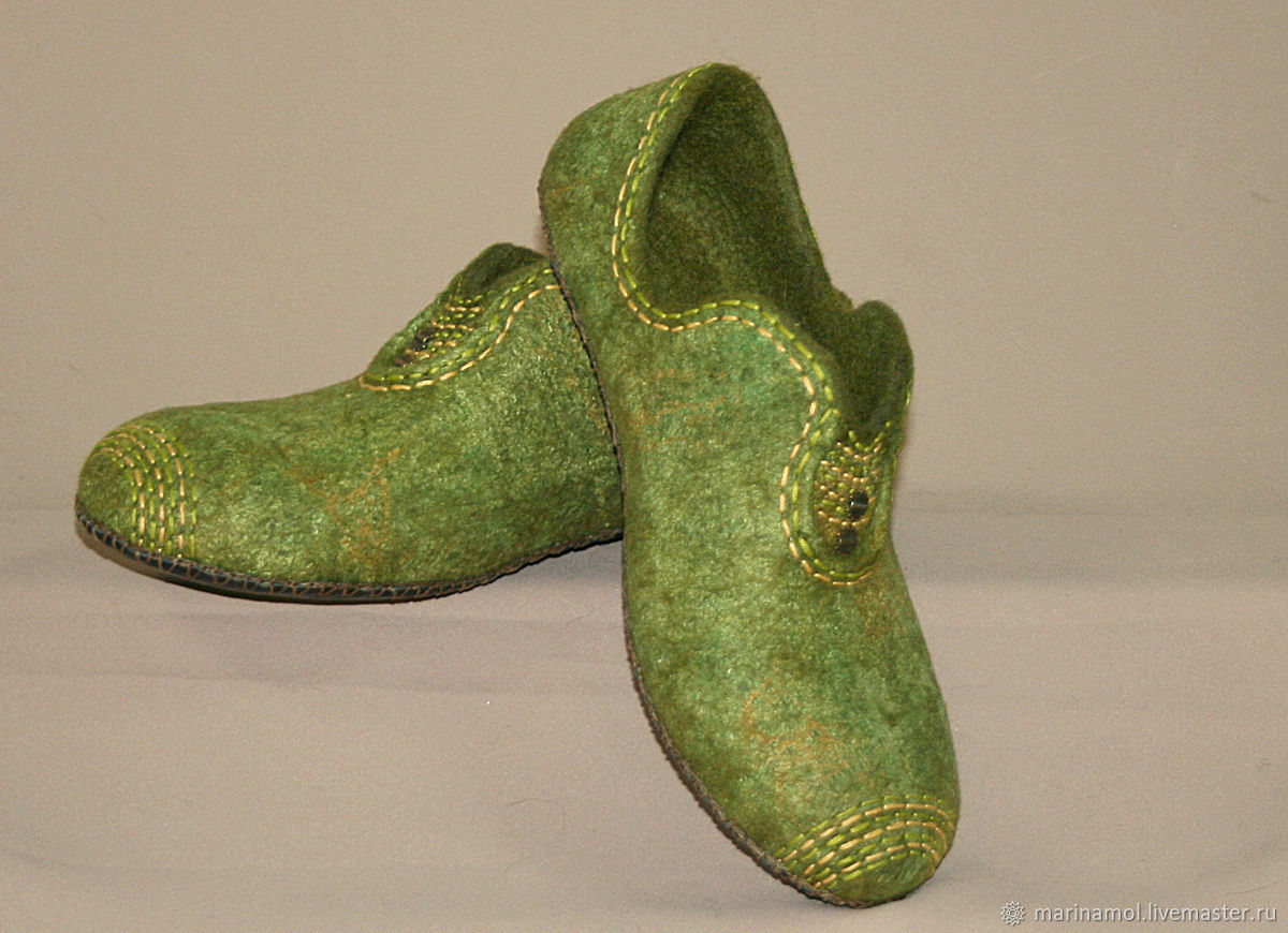 Women's felted Slippers and autumn again, Slippers, Miass,  Фото №1