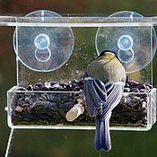 Дача и сад handmade. Livemaster - original item Street bird feeder transparent window of