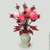 Цветы и флористика handmade. Livemaster - original item The flowers of pomegranate in a vase of onyx. Handmade.