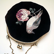 """Классическая сумка ручной работы. Ярмарка Мастеров - ручная работа Сумочка """"Цветок и птица"""". Handmade."""