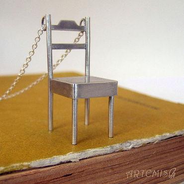 """Украшения ручной работы. Ярмарка Мастеров - ручная работа Серебряная подвеска """"Просто стул"""". Handmade."""