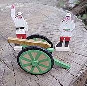 Куклы и игрушки handmade. Livemaster - original item Russian artillery in the uniform of the Turkestan campaign. Handmade.