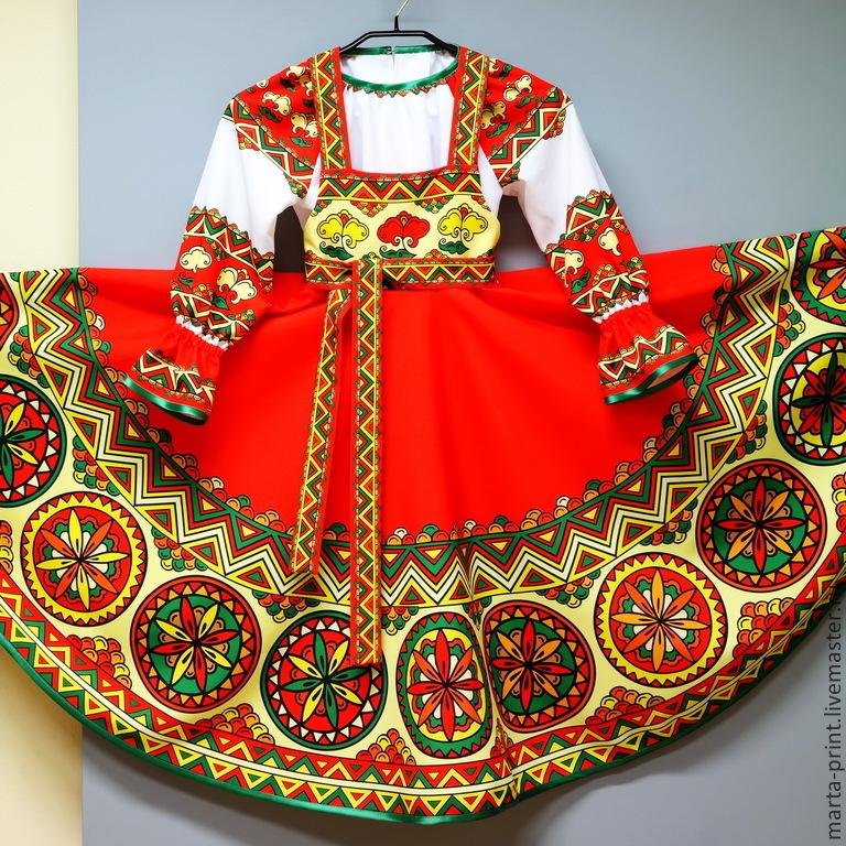 костюм сарафан для девочки
