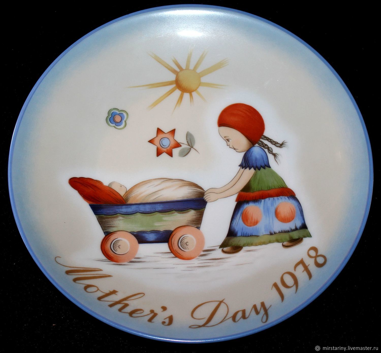 Rare, annual, Christmas plates Hummel, Schmid, Herm, Vintage interior, Moscow,  Фото №1