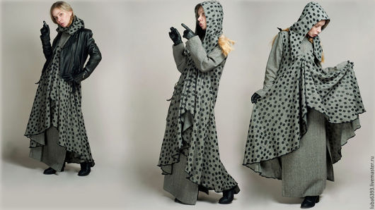 Платья ручной работы. Ярмарка Мастеров - ручная работа. Купить Комплект из твида. Handmade. Серый, бохо-стиль