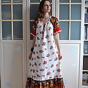 Одежда handmade. Livemaster - original item Long linen dress in boho style Summer. Handmade.