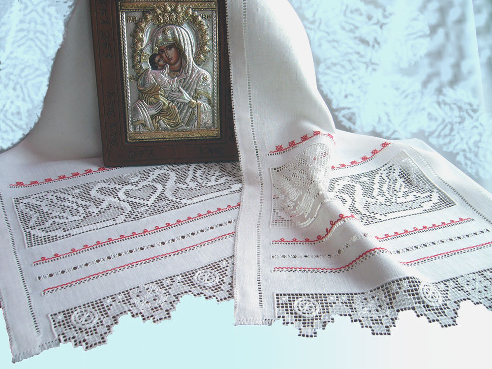 linen towel on the icon with embroidery wedding towel with white embroidery wedding towel strojeva embroidery white on white embroidery floss red