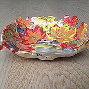 """Посуда ручной работы. Ярмарка Мастеров - ручная работа Тарелочка """"Листопад"""". Handmade."""