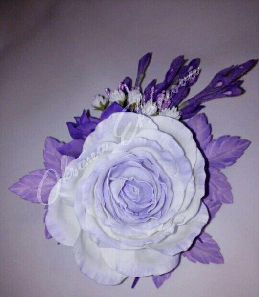 Броши ручной работы. Ярмарка Мастеров - ручная работа. Купить Сиреневая  блажь. Handmade. Сиреневый, фоамиран, цветы ручной работы