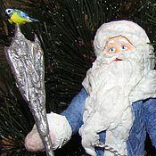 Куклы и игрушки ручной работы. Ярмарка Мастеров - ручная работа Дед Мороз - ватная елочная игрушка. Handmade.
