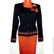 Одежда handmade. Livemaster - original item Knit jacket, knit skirt, suit Elegance. Handmade.