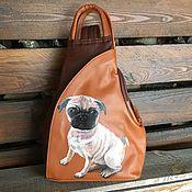 Сумки и аксессуары handmade. Livemaster - original item Small convertible backpack womens. Hand painted pet portrait.. Handmade.