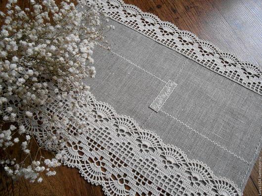 """Текстиль, ковры ручной работы. Ярмарка Мастеров - ручная работа. Купить """"Март..."""" салфеточка. Handmade. Льняная салфетка"""
